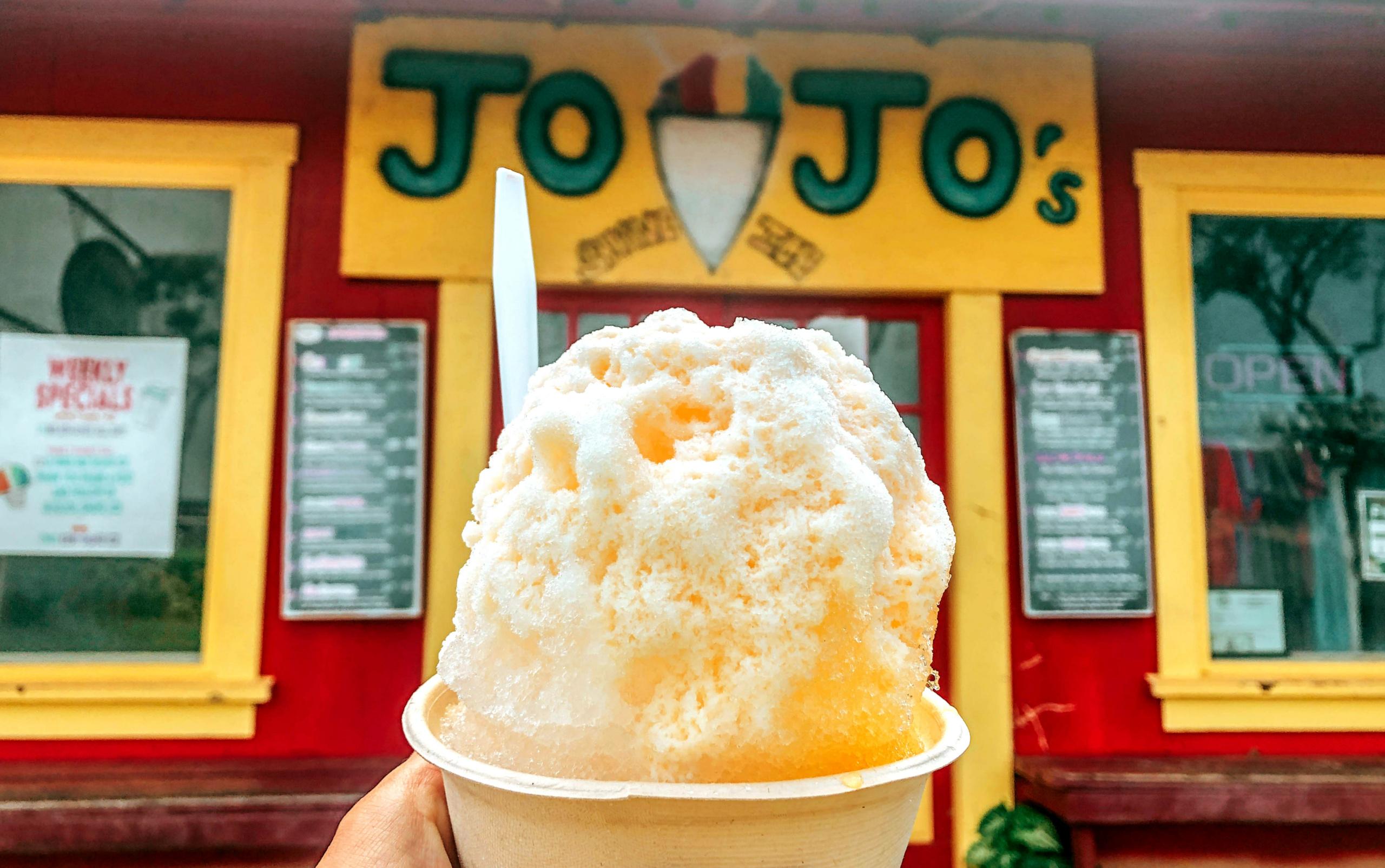 jojo's shave ice best food kauai